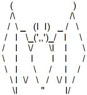 ASCII-Art Fledermaus