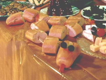 Brotschlange Baguette fürs Halloweenbuffet
