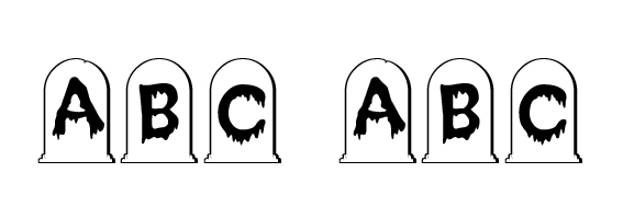 CreepyGraves Font