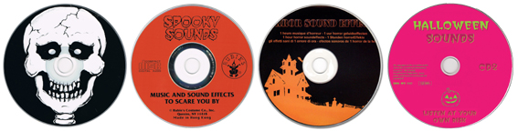 Halloween und Horrorsounds CDs
