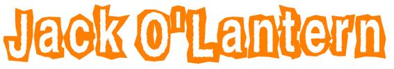 Jack O'Lantern Schrift