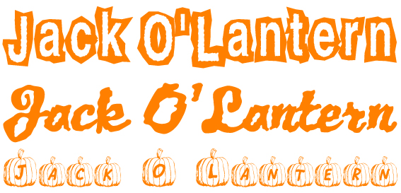 Jack O'Lantern Schriftarten
