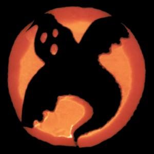 Halloweenkürbis mit Geist