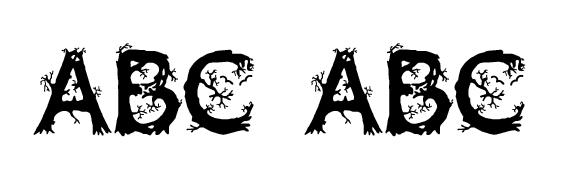 JF Wild Wood Font