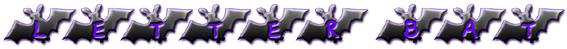 Letter Bat Font