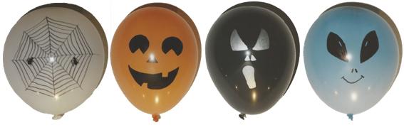 Halloween Luftballons selbst gestalten