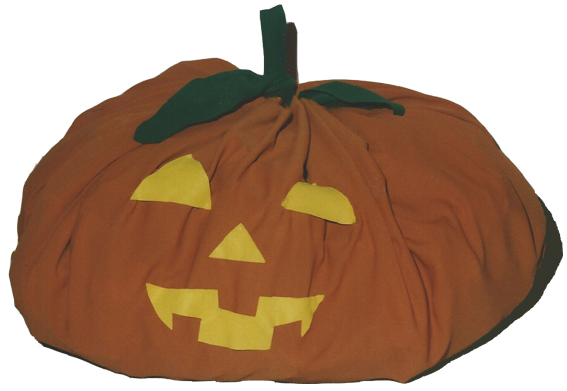 Halloweenstoffkuerbis