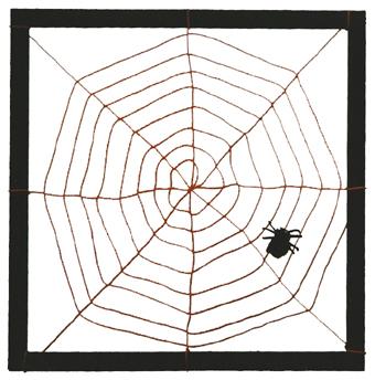 Riesenspinnennetz selbst gemacht